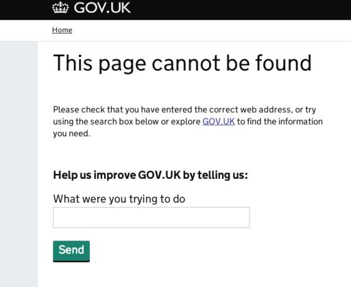 """404 """"report a problem"""""""